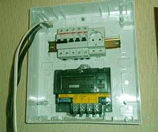 монтаж электросчетчика и автоматов