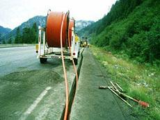 прокладка оптического кабеля в земле