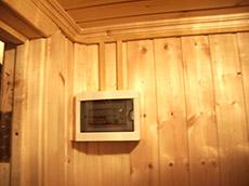 электрика в деревянной бане