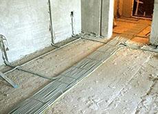 электропроводка дома в полу