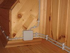 монтаж открытой проводки в доме