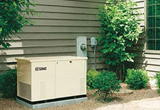 установка генератора в частном доме