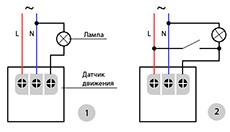 монтаж датчика движения для включения света