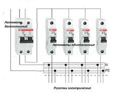 подключение однополюсного автоматического выключателя