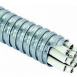 Монтаж кабеля в металлорукаве