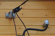Монтаж СИП кабеля к дому