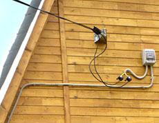Монтаж проводки на даче