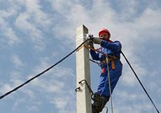 Монтаж провода на опорах
