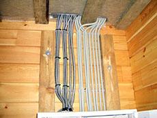 Электрика в брусовой дом