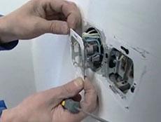 Ремонт электрической розетки