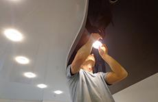 Установка осветительных приборов в СПб