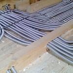 монтаж электропроводки гофрированной трубе